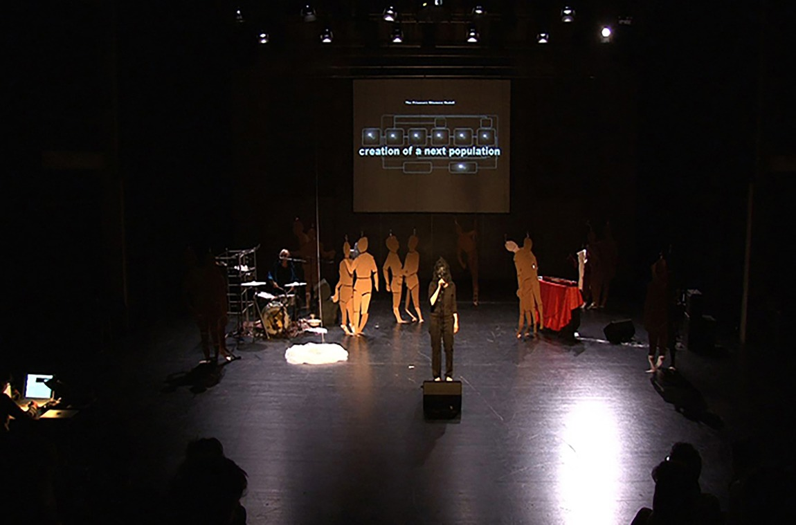 &laquo;The Prisoners Dilemma Model +-staged&raquo;, 2015, Performance, featuring David Kerman, B&uuml;hne A, Gessnerallee Z&uuml;rich